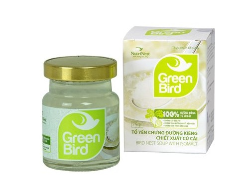 Nước Yến Green Bird đường ăn kiêng 75gr