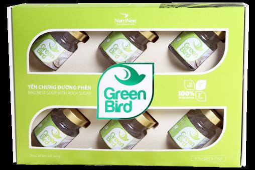 Nước Yến Green Bird hộp quà 6 lọ 75gr
