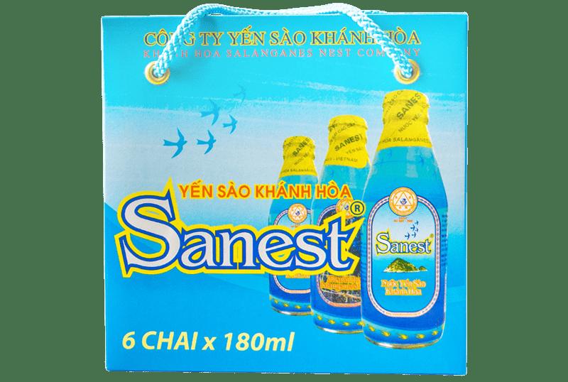 Nước yến Sanest hộp 6 chai 180ml