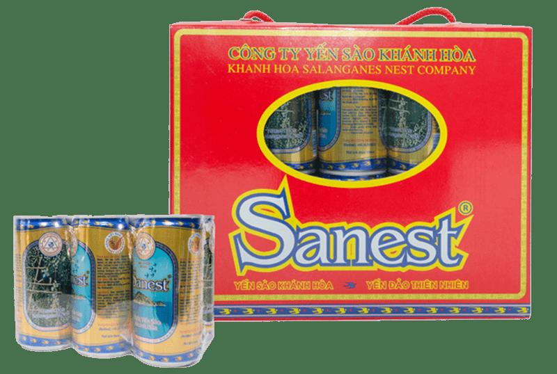 Nước yến Sanest Khánh Hòa- hộp 10 lon 190ml