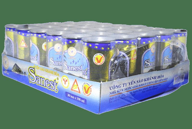 Nước yến Sanest Khánh Hòa- khay 30 lon 190ml