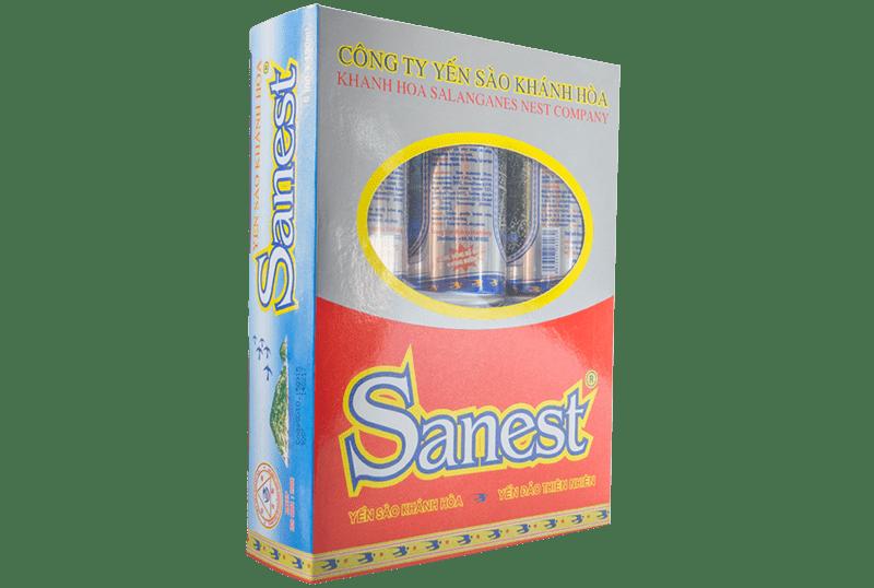 Nước yến Sanest không đường hộp 6 lon