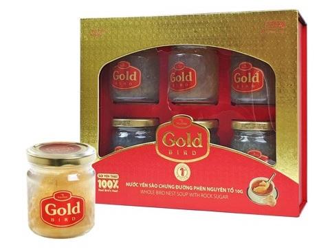 Súp Yến chưng đường phèn Gold Bird - 60g Yến nguyên tổ - Hộp Quà