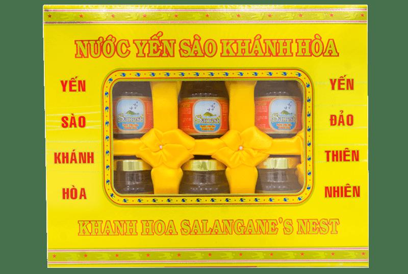 Yến nước Sanest Khánh Hòa hộp quà 6 lọ