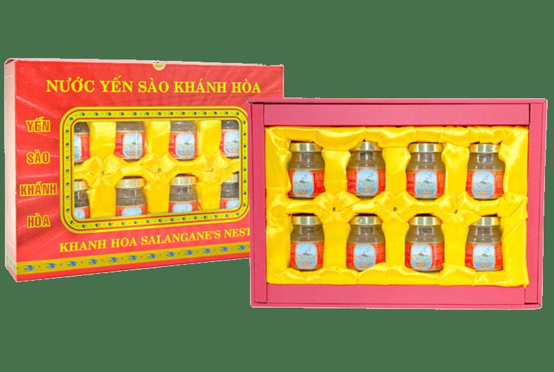 Yến nước Sanest Khánh Hòa hộp quà 8 lọ