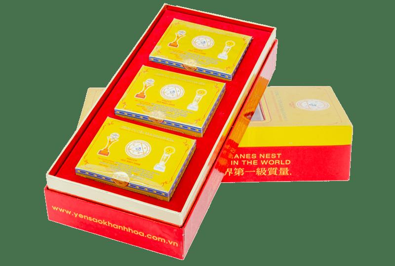 Yến sào Khánh Hòa tinh chế 3 hộp 5g